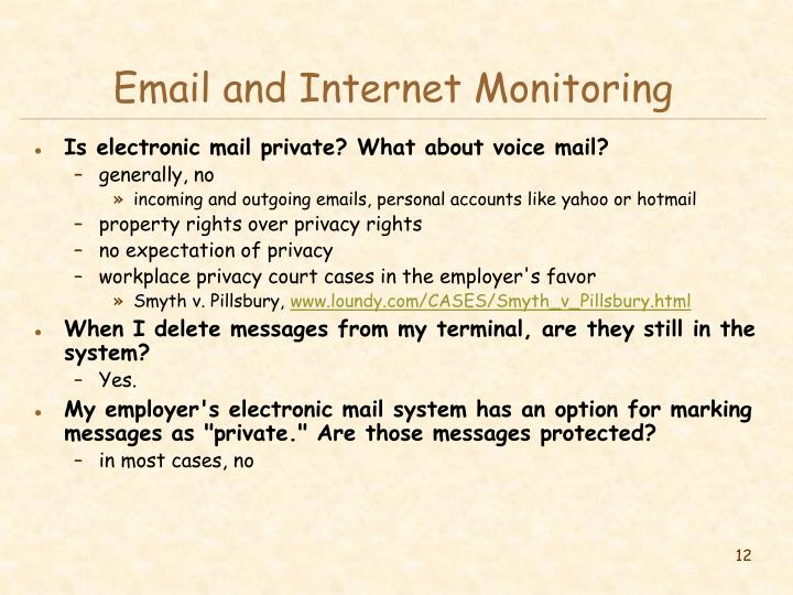 Email and Internet Monitoring