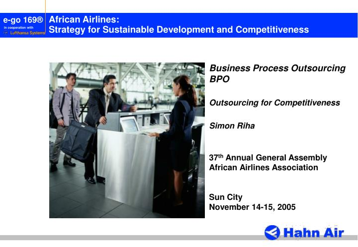 African airlines strategy for sustainable development and competitiveness