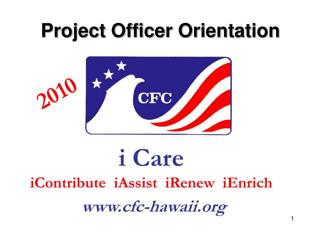 project officer orientation l.