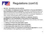 regulations cont d
