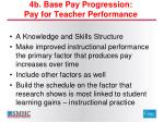 4b base pay progression pay for teacher performance
