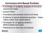 curriculum unit based portfolio