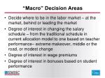 macro decision areas