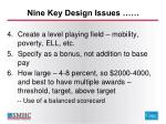 nine key design issues1
