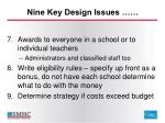 nine key design issues2