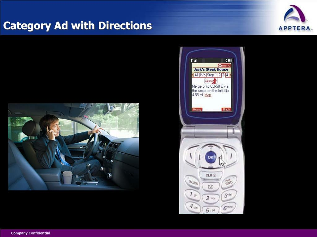 Category Ad with Directions
