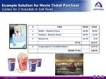 example solution for movie ticket purchase listen for 2 voiceads in call flow4