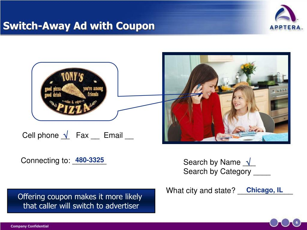 Switch-Away Ad with Coupon