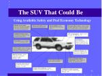 the suv that could be