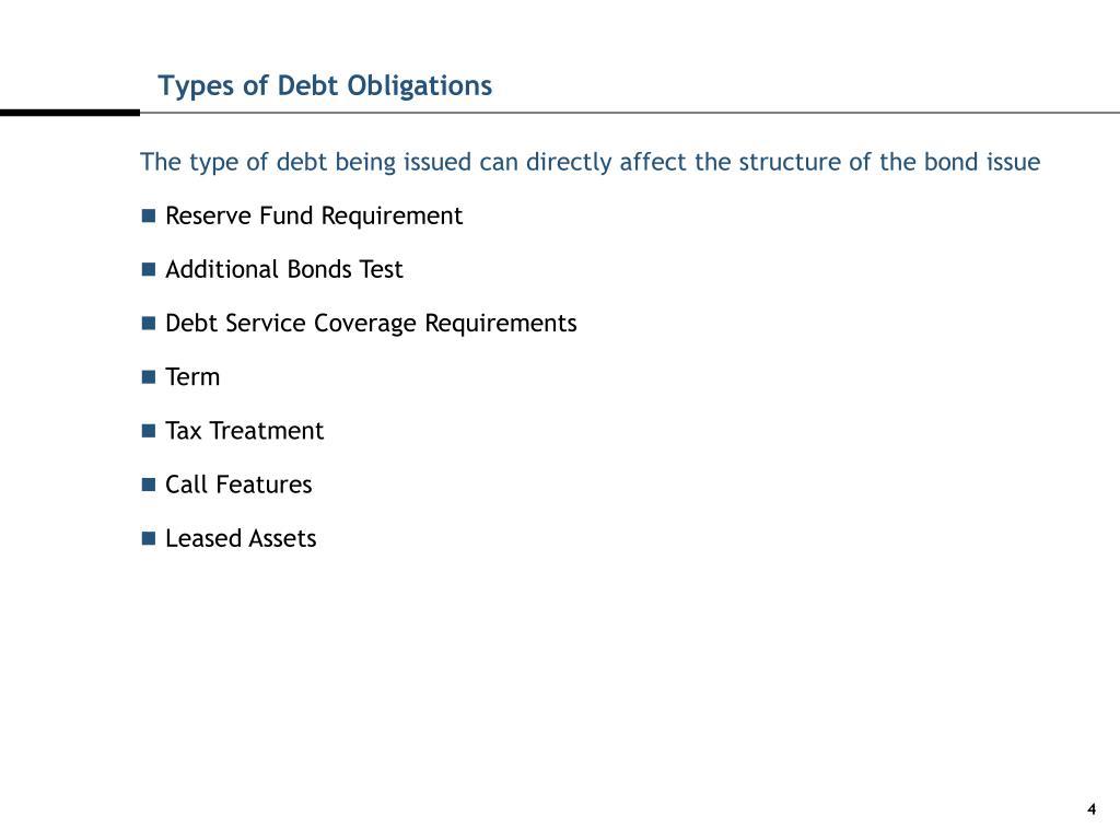 Types of Debt Obligations