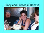 cindy and friends at dennys
