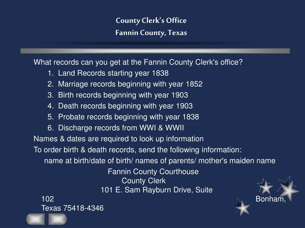 County Clerk's Office