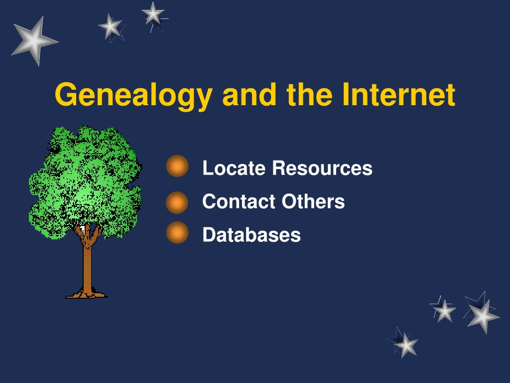genealogy and the internet l.