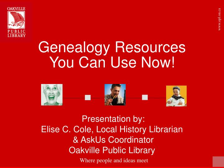 Genealogy resources you can use now