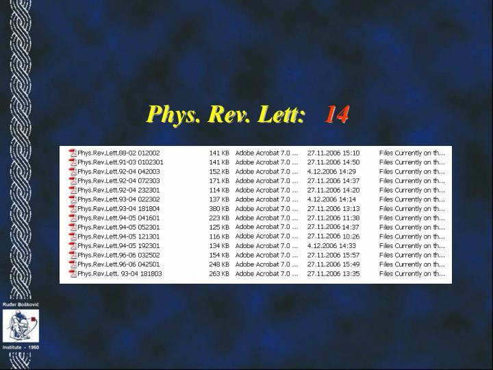 Phys. Rev. Lett: