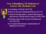 gary a rendsburg the redaction of genesis the abraham cycle
