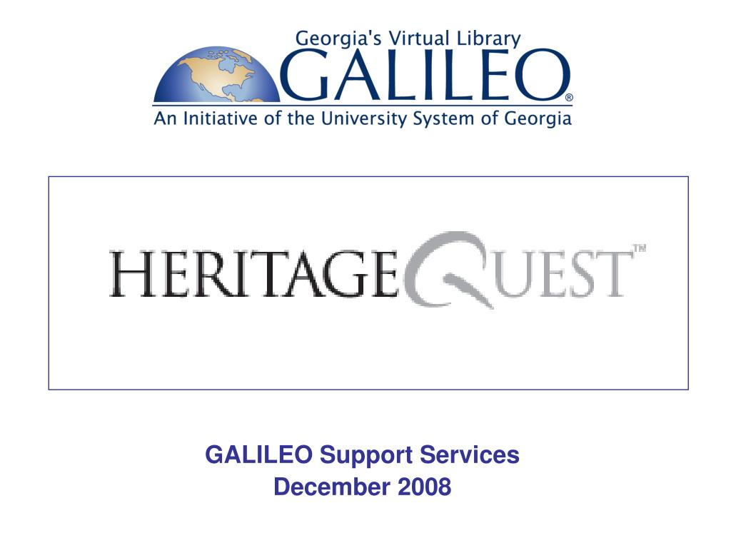 galileo support services december 2008 l.