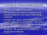 access preservation issues