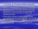access preservation issues7