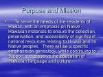 purpose and mission