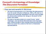 foucault s archaeology of knowledge the discursive formation