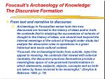 foucault s archaeology of knowledge the discursive formation30