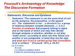 foucault s archaeology of knowledge the discursive formation32