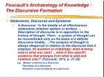 foucault s archaeology of knowledge the discursive formation33