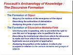 foucault s archaeology of knowledge the discursive formation34