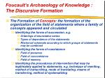 foucault s archaeology of knowledge the discursive formation35