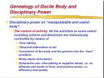 genealogy of docile body and disciplinary power54