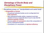 genealogy of docile body and disciplinary power56