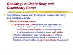 genealogy of docile body and disciplinary power60