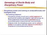 genealogy of docile body and disciplinary power62