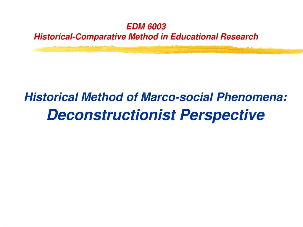 Historical Method of Marco-social Phenomena: