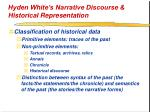 hyden white s narrative discourse historical representation23