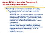 hyden white s narrative discourse historical representation24