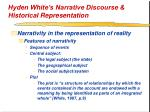 hyden white s narrative discourse historical representation25