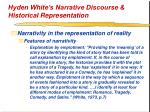 hyden white s narrative discourse historical representation26