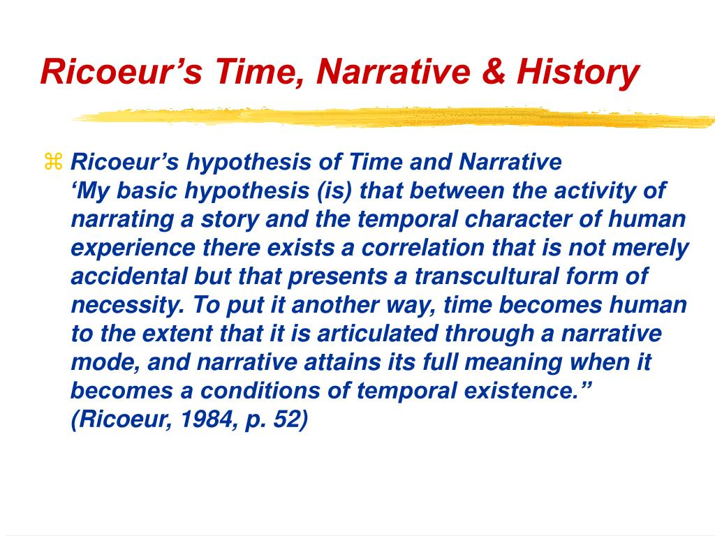 Ricoeur's Time, Narrative & History