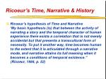 ricoeur s time narrative history18