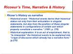 ricoeur s time narrative history19