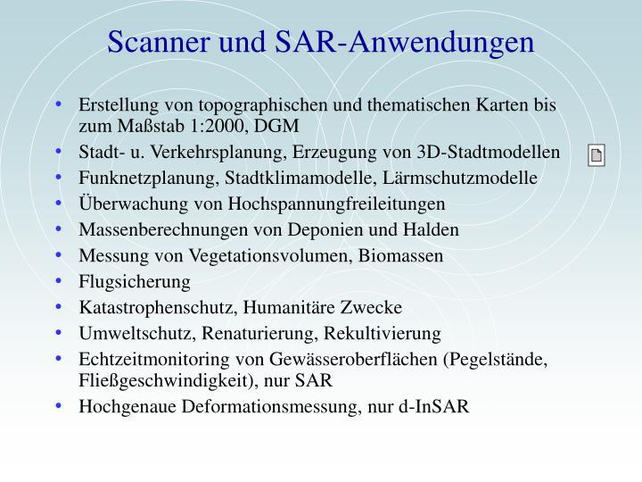 Scanner und SAR-Anwendungen