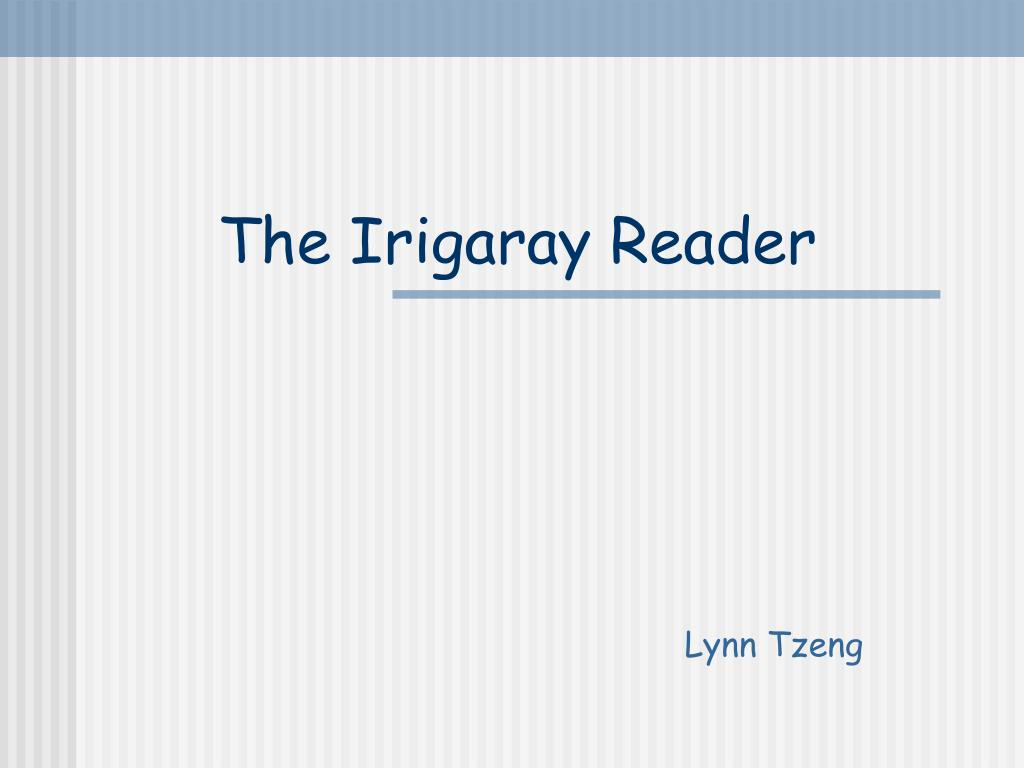 the irigaray reader l.