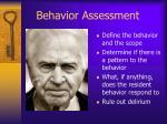 behavior assessment