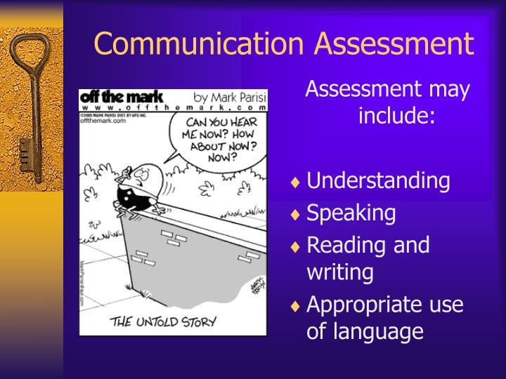 Communication Assessment