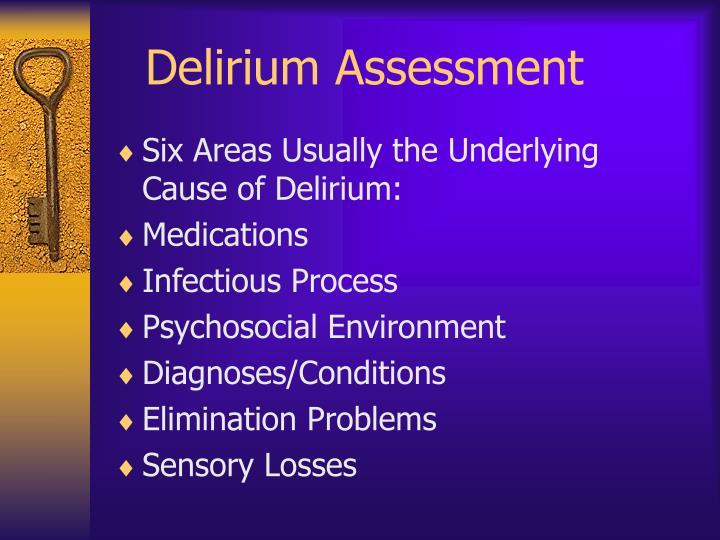 Delirium Assessment