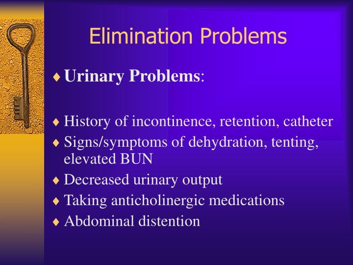 Elimination Problems
