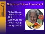 nutritional status assessment