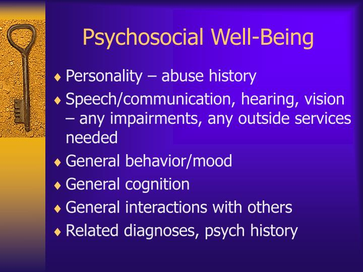 Psychosocial Well-Being